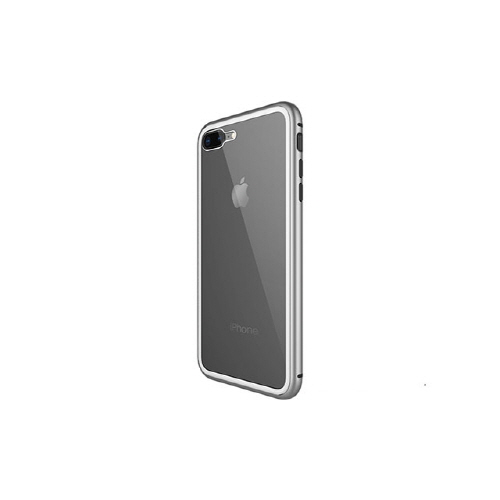 [WK] Magnetic Galss Case for iPhone 8/7 Plus - Silver